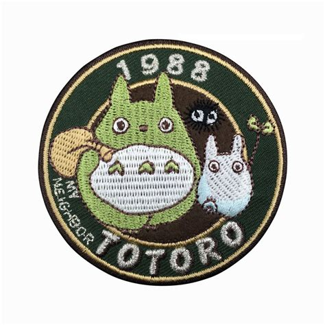 1988 my totoro patch embroidered animation sew on