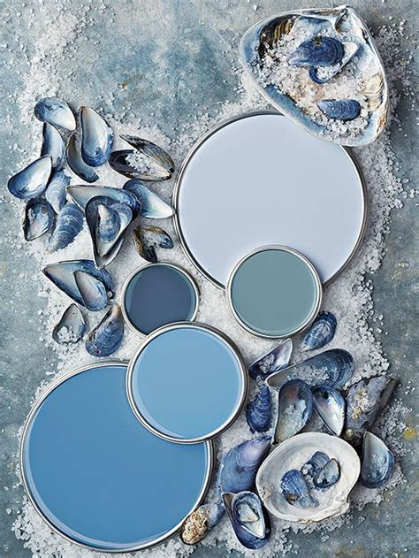 blue gray color scheme coastal paint color schemes inspired from the beach