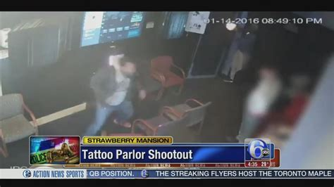 tattoo parlors near penn station video shows gunfire in strawberry mansion tattoo parlor