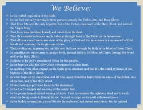 What we believe mary esther church of god