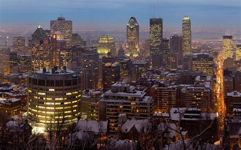 scenic town montreal twilight panorama full hd wallpaper and