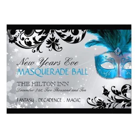 masquerade invitation template invitations