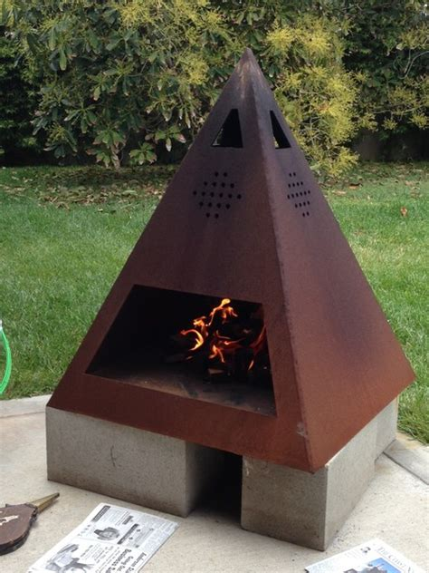 chiminea modern steel chiminea modern other metro by dagan design