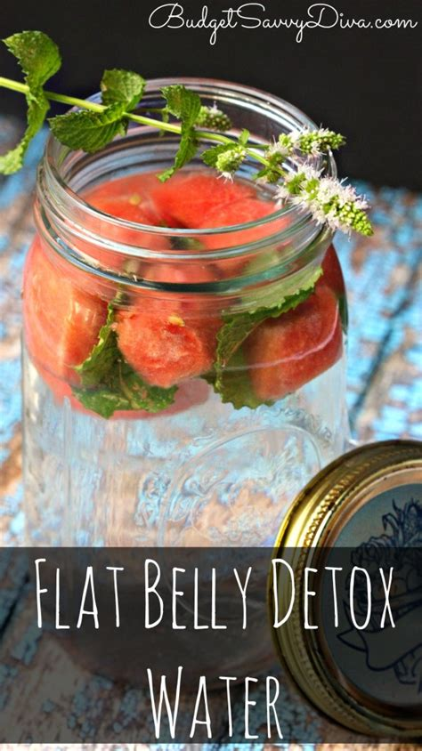 Flat Belly Detox Water Watermelon And Mint by Flat Belly Detox Water Recipe Budget Savvy