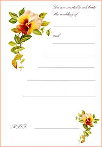 card invitation design ideas printable greeting cards free rectangle potrait white orange green