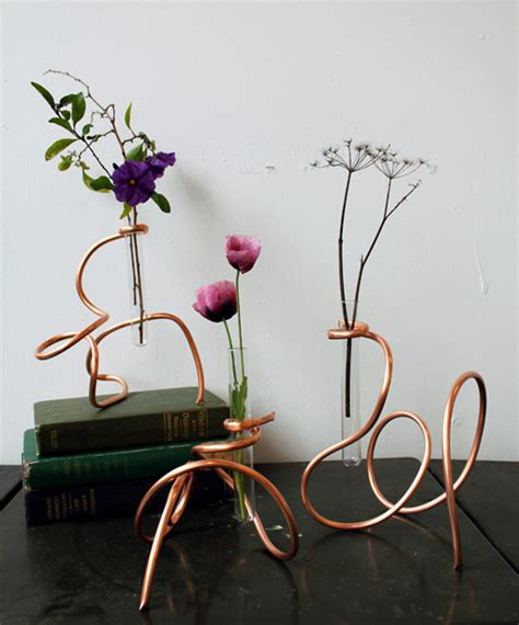 copper projects diy project sculptural copper coil vases design sponge