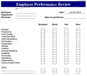 Annual Performance Review Template annual performance review form template
