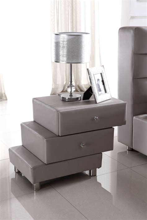 bedroom furniture night stands modern gray nightstand modern bedroom pinterest