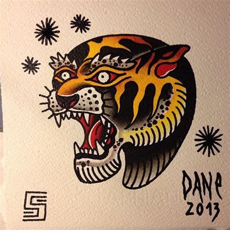 tattoo flash bank dane soos traditional american old school tiger tattoo