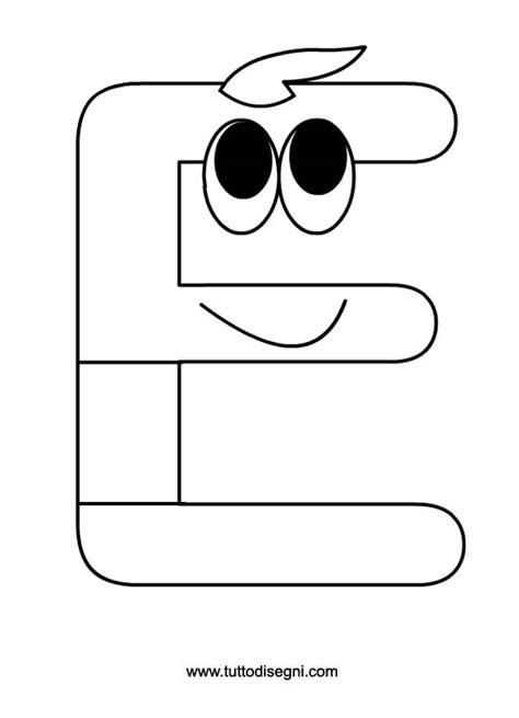 lettere da colorare e ritagliare le vocali lettera e da colorare tuttodisegni