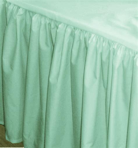 green bed skirt mint green bedskirt regular or extra long