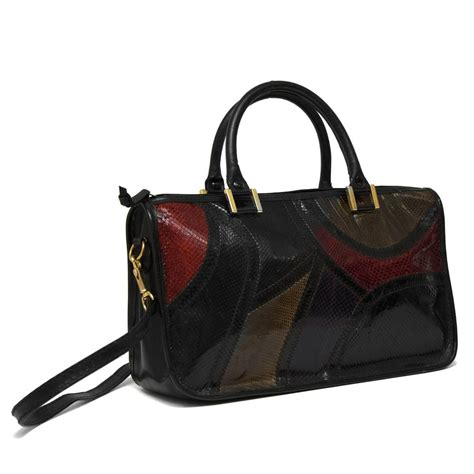 Patchwork Handbags - 1970 s multi colored patchwork handbag for sale at
