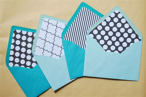 diy envelopes diy envelope liners a touch of teal