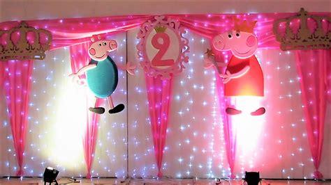 decoracion de cumpleanos de peppa pig  luz led youtube
