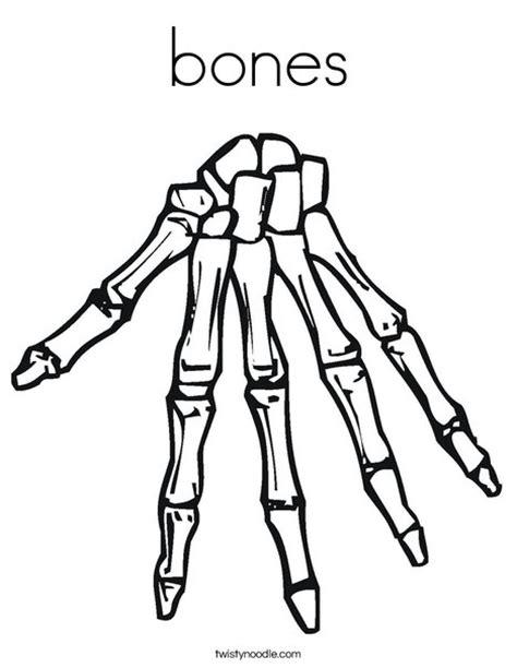 free coloring pages of bones bones coloring page twisty noodle