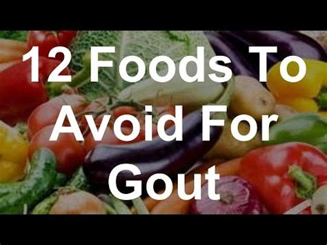 vegetables bad for gout 12 foods to avoid for gout