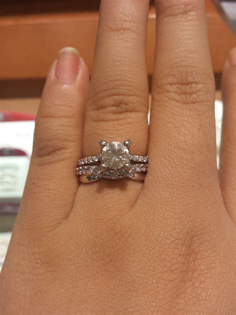 Showing Engagement Ring by Show Me Your Wedding Ring With And Without Your Engagement