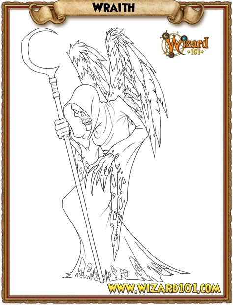 Wizard101 Coloring Pages coloring pages wraith by wizard101devinstale on deviantart