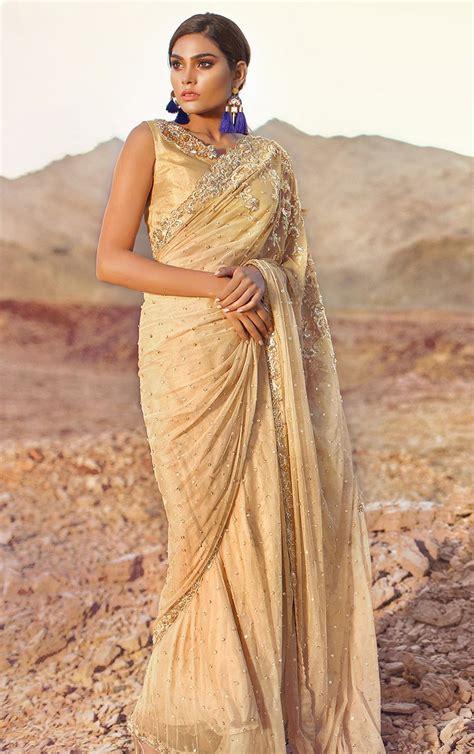 Sari Gold tena durrani omorose gold sari