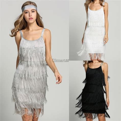 ebay fashion fashion women straps dress tassels glam party dress gatsby