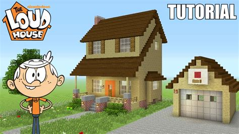 minecraft videos how to build a house minecraft tutorial how to make quot the loud house quot house quot the loud house quot survival