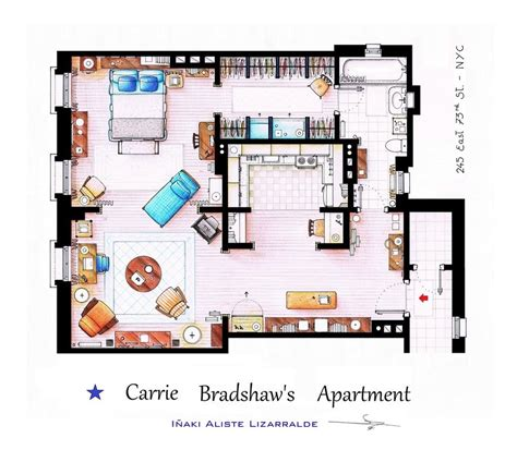 The Simpsons Floor Plan by Floor Plans Of Homes From Famous Tv Shows