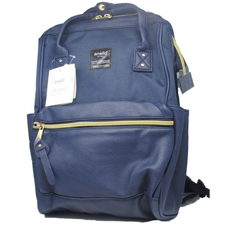 anello tas ransel kulit canvas size s blue