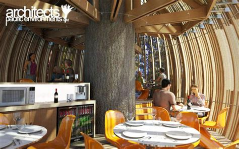 yellow house restaurant new zealand s whimsical yellow treehouse restaurant towers above the redwood forest