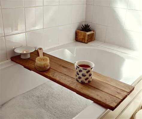 bath tray reclaimed wood tray bathroom decor bath caddy