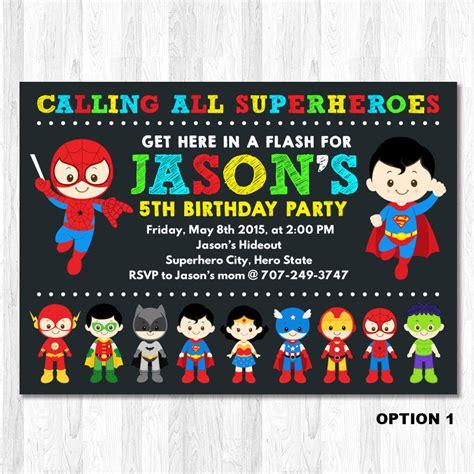 printable birthday invitations superhero superhero invitation superhero birthday invitation by