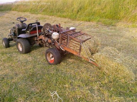 pto adapted lawn mover haybailer http www