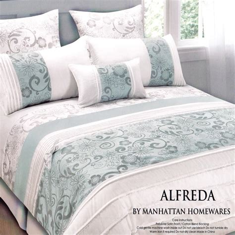 alfreda duck egg blue white king king quilt