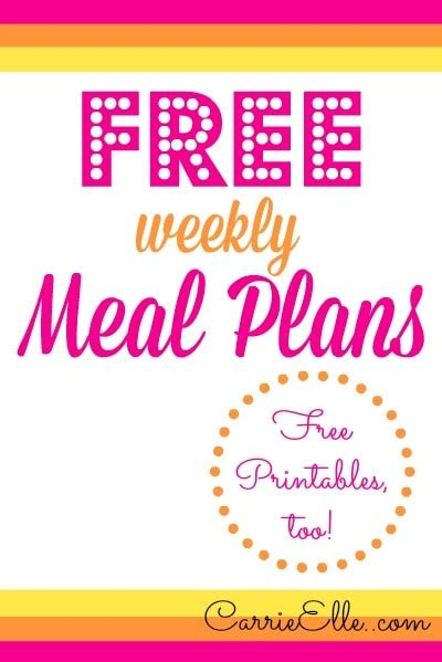 printable meal planner by carrie lindsey free meal plans and meal planning printables carrie elle
