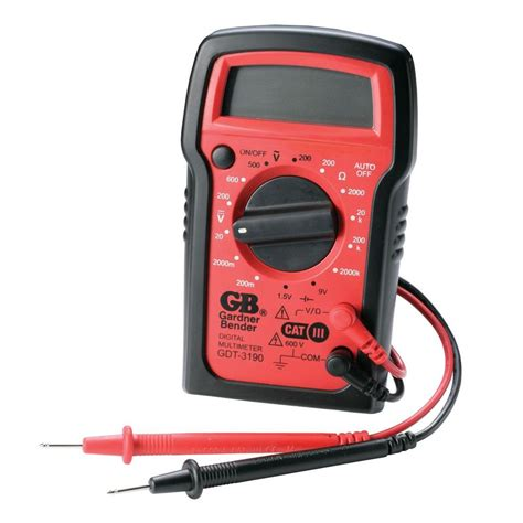 Multimeter Manual gardner bender 4 func 14 range manual digital multimeter gdt 3190 the home depot