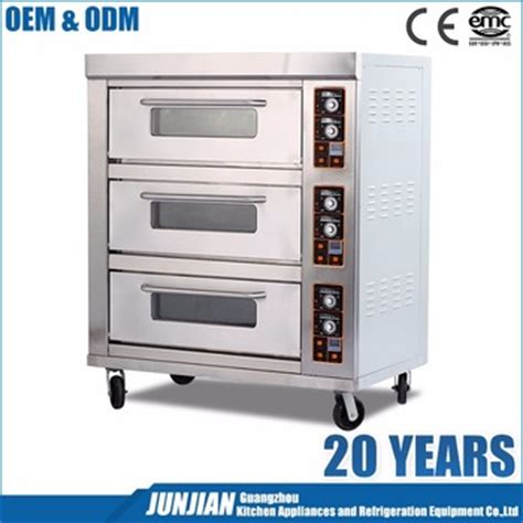 Gas Deck Oven Stainless Hitech 3 Deck 6 Trays Arf 60h restaurant oven 3 decks 9 trays electric deck oven and electric commercial pizza oven buy