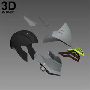 3d Mask Template by 3d Printable Model Genji Overwatch Helmet Mask Print