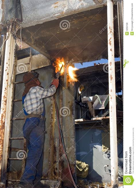 Shipyard Welding by Shipyard Welder Royalty Free Stock Photos Image 3255158