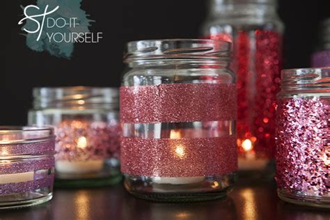 Decorating Jam Jars For Candles by How To Make Diy Glittered Glass Jars Candle Holders