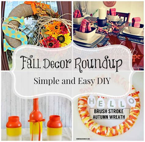 diy fall decor roundup and easy ideas