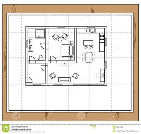 pianta casa pianta della casa illustrazione vettoriale immagine 59089890