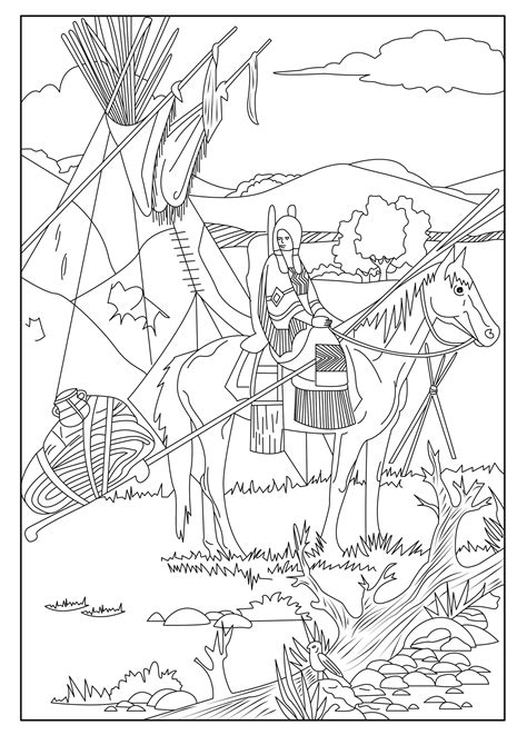 native american celine native american adult coloring pages