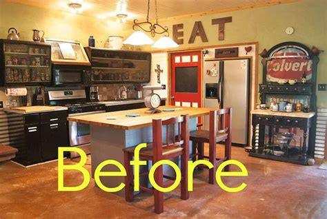 before and after rustic kitchen makeover house makeover