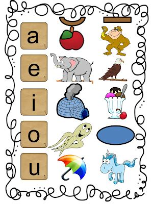 printable vowels poster first grade wow september 2012