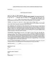 performance bond template sle performance bond surety bond contract