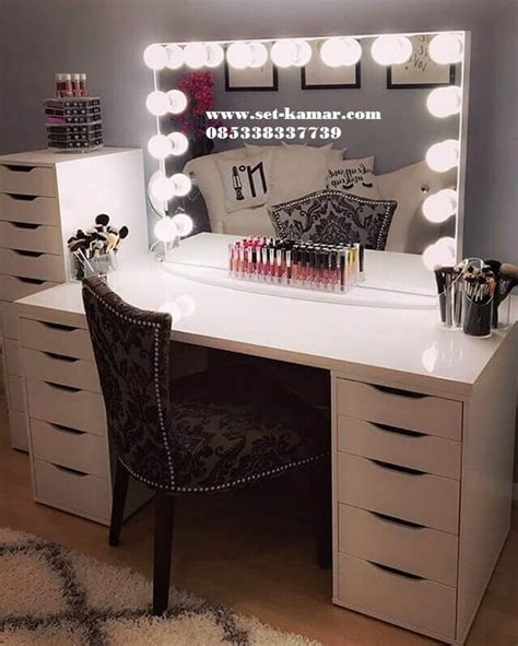 Meja Rias Simple meja rias lu meja make up minimalis wrna putih murah set kamar furniture kamar kamar
