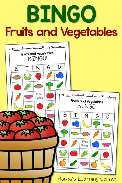r fruits and vegetables fruits and vegetables bingo mamas learning corner
