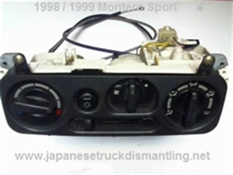 electric power steering 1999 mitsubishi montero sport navigation system 1998 1999 mitsubishi montero sport climate control ac heater fan switches