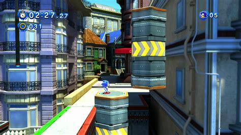 classic sonic in modern city escape sonic generations youtube