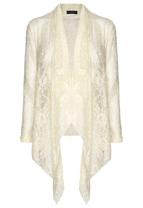 Lace Cardigan lakeland lace cardigan in beige lyst