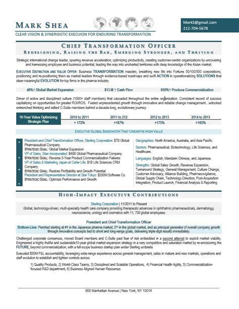 chief transformation officer premium resume writing